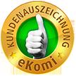 eKomi Kundenauszeichnung gold