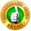 eKomi Kundenauszeichnung gold