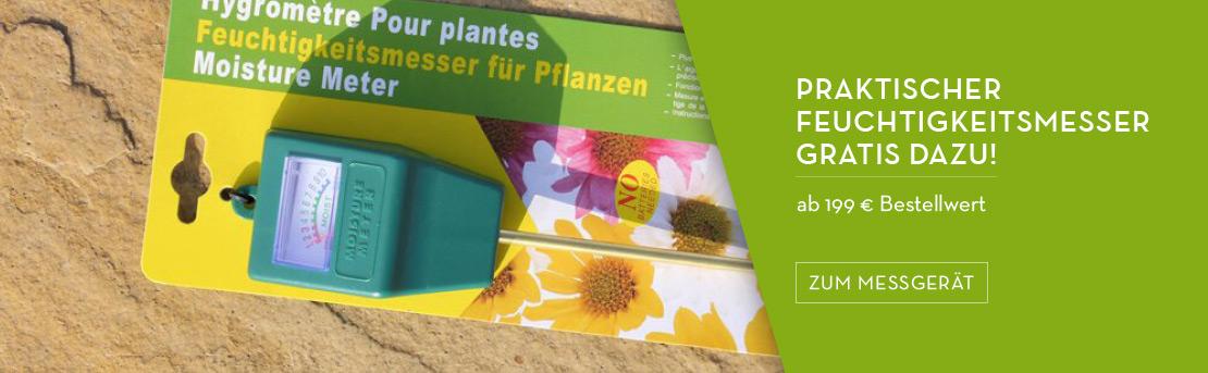 Praktischer Feuchtigkeitsmesser gratis zu jeder Pflanzkübel-Bestellung ab 199 €