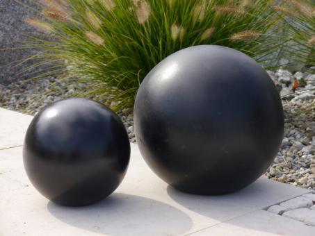 Dekokugel aus Fiberglas in schwarz-anthrazit