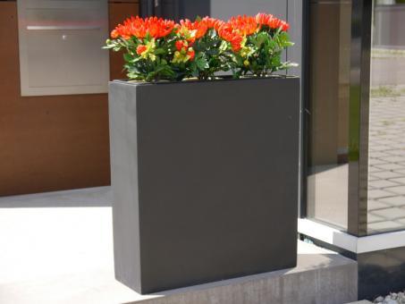 Raumteiler DIVIDO aus Fiberglas in schwarz-anthrazit