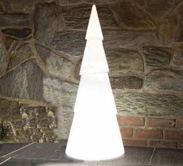 Leuchtbaum ARBONO H55cm aus Kunststoff in perlweiß
