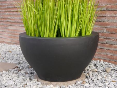 Pflanzschale MAXXX aus Fiberglas in schwarz