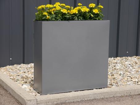 Raumteiler CITY aus Metall, mit Einsätzen, anthrazit