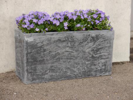 Pflanztröge ROCKS aus Fiberglas wie orig. Naturstein in grau