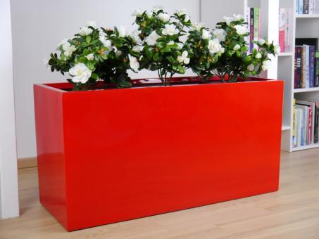 B-Ware: Pflanztrog JOY aus Fiberglas in Hochglanz rot
