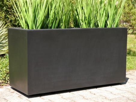 Pflanztrog für ROLLEN (extra) aus Fiberglas in schwarz-anthrazit