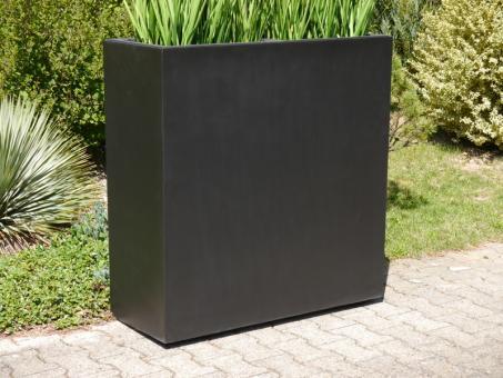 Raumteiler L100x B40x H100cm aus Fiberglas in schwarz-anthrazit