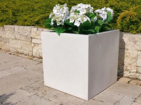 Pflanzkübel der BUNDESGARTENSCHAU, weiß 30x30x30 cm