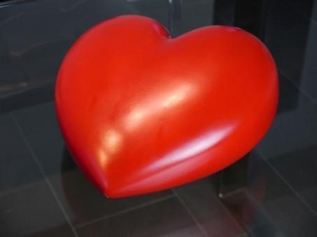Deko-Herz in rot 30x30x17