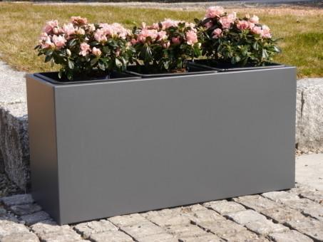 Pflanztröge aus Metall für ROLLEN, anthrazit 80x30x30
