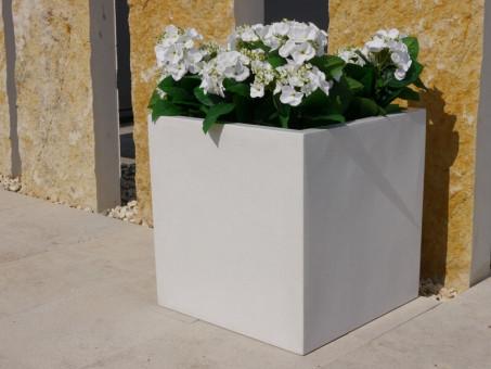 Pflanzkübel der BUNDESGARTENSCHAU, weiß 40x40x40 cm