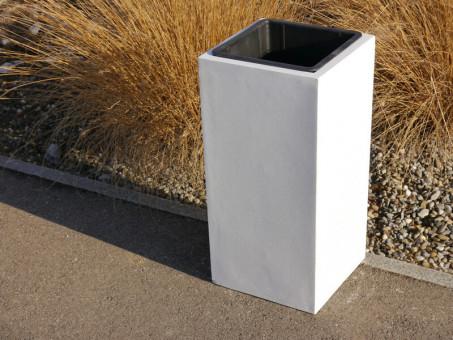 FERTIGSET: Pflanzkübel mit Einsatz, weiß 38x38x70 cm