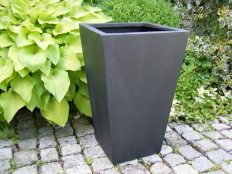 Blumenkübel FAB, schwarz-anthrazit 27x27x38 cm