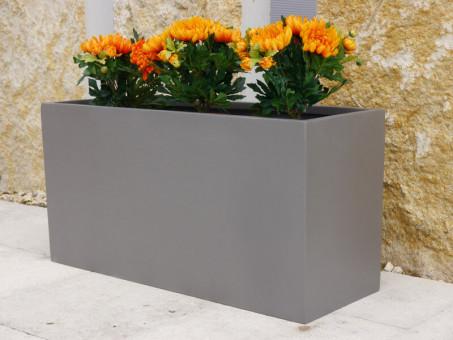 Pflanztrog in grau-metallic 40x20x20 cm