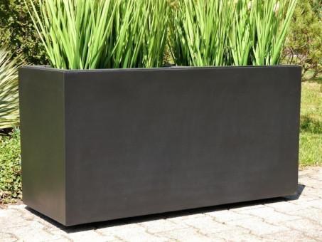 Pflanztrog für ROLLEN, schwarz 100x40x50 cm