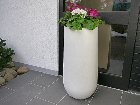 Pflanzkübel SOTO, weiß Ø25x55 cm