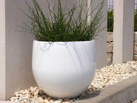 Blumenkübel YOKO, Hochglanz weiß Ø38x36 cm