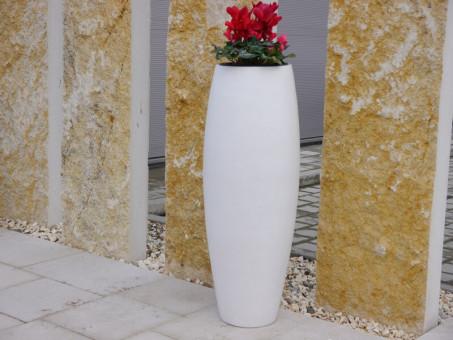 Pflanzkübel ZEN, weiß Ø37x100 cm