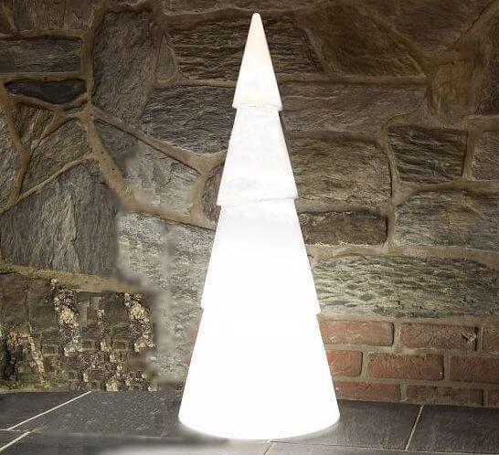 Leuchtbaum arbono h 75cm kunststoff in perlwei - Beleuchteter tannenbaum kunststoff ...