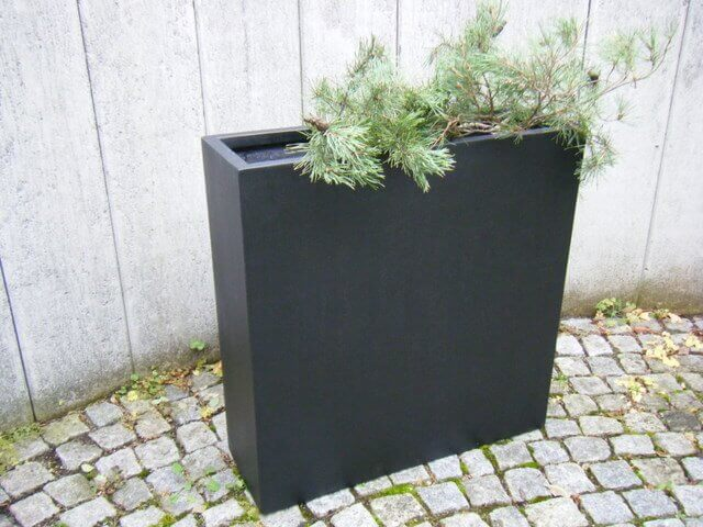 raumteiler johanna pflanzk bel fiberglas 110x38x100cm edel schwarz ebay. Black Bedroom Furniture Sets. Home Design Ideas
