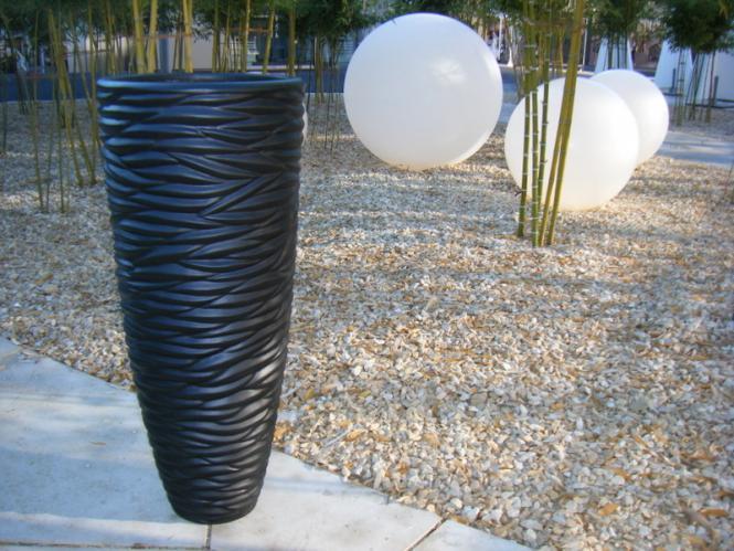 black blumenk bel pflanzk bel pflanzgef e fiberglas 38x38x90cm schwarz g nstig online von. Black Bedroom Furniture Sets. Home Design Ideas