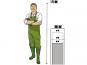 FERTIGSET: Pflanzkübel mit Einsatz, anthrazit 30x30x60 cm