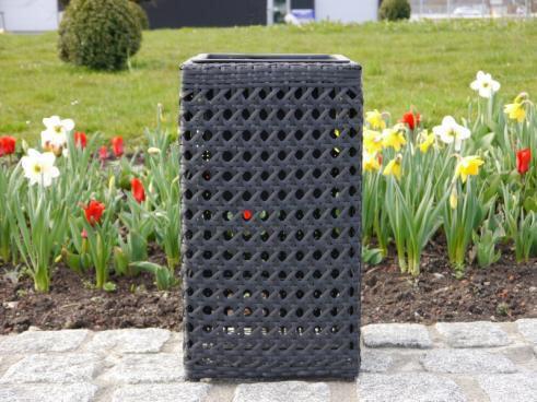 pflanzkubel polyrattan, hoher pflanzkübel aus polyrattan großflecht in schwarz | bei east, Design ideen