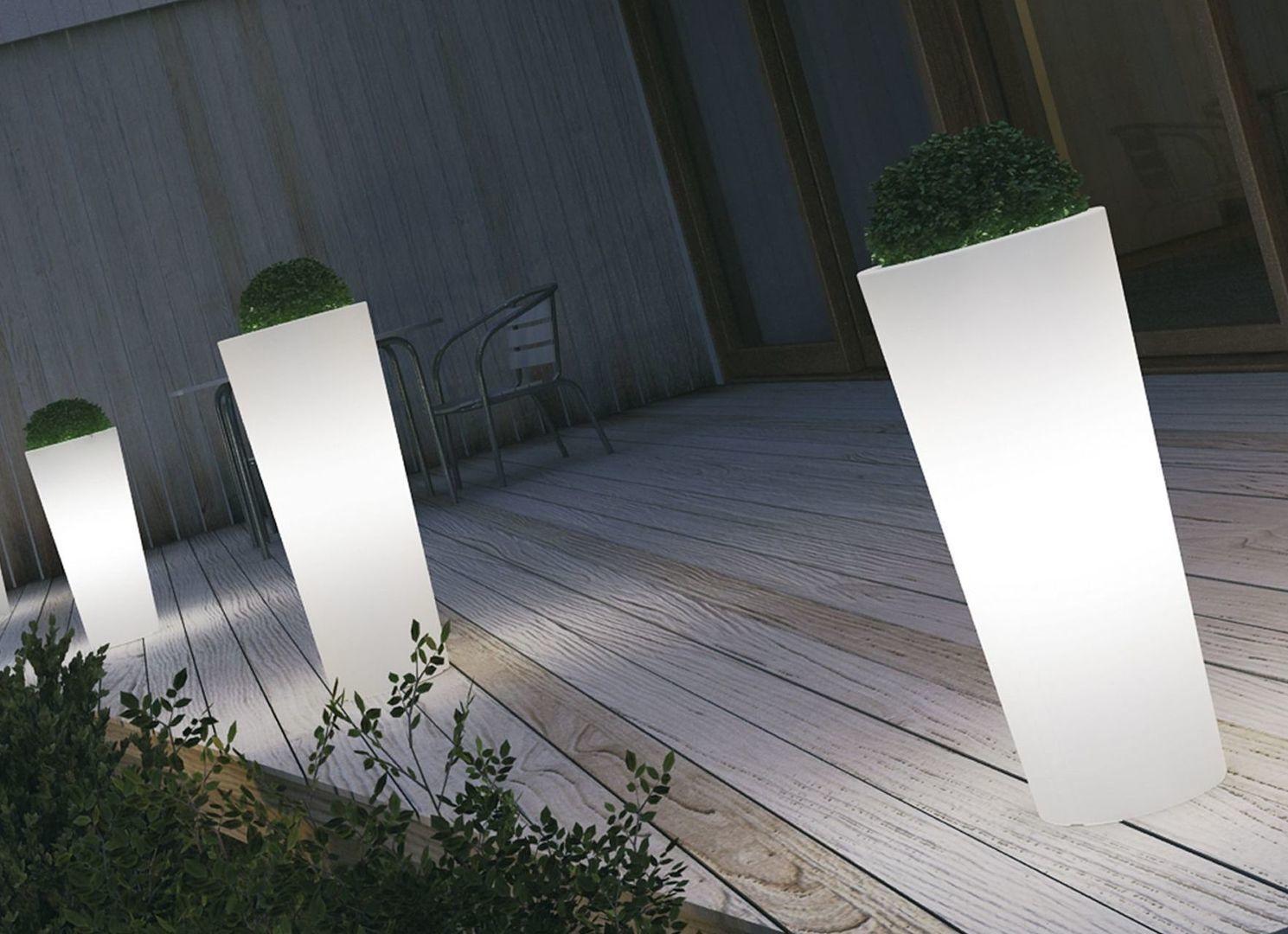 beleuchteter blumenk bel luce l40x b40x h85cm aus. Black Bedroom Furniture Sets. Home Design Ideas