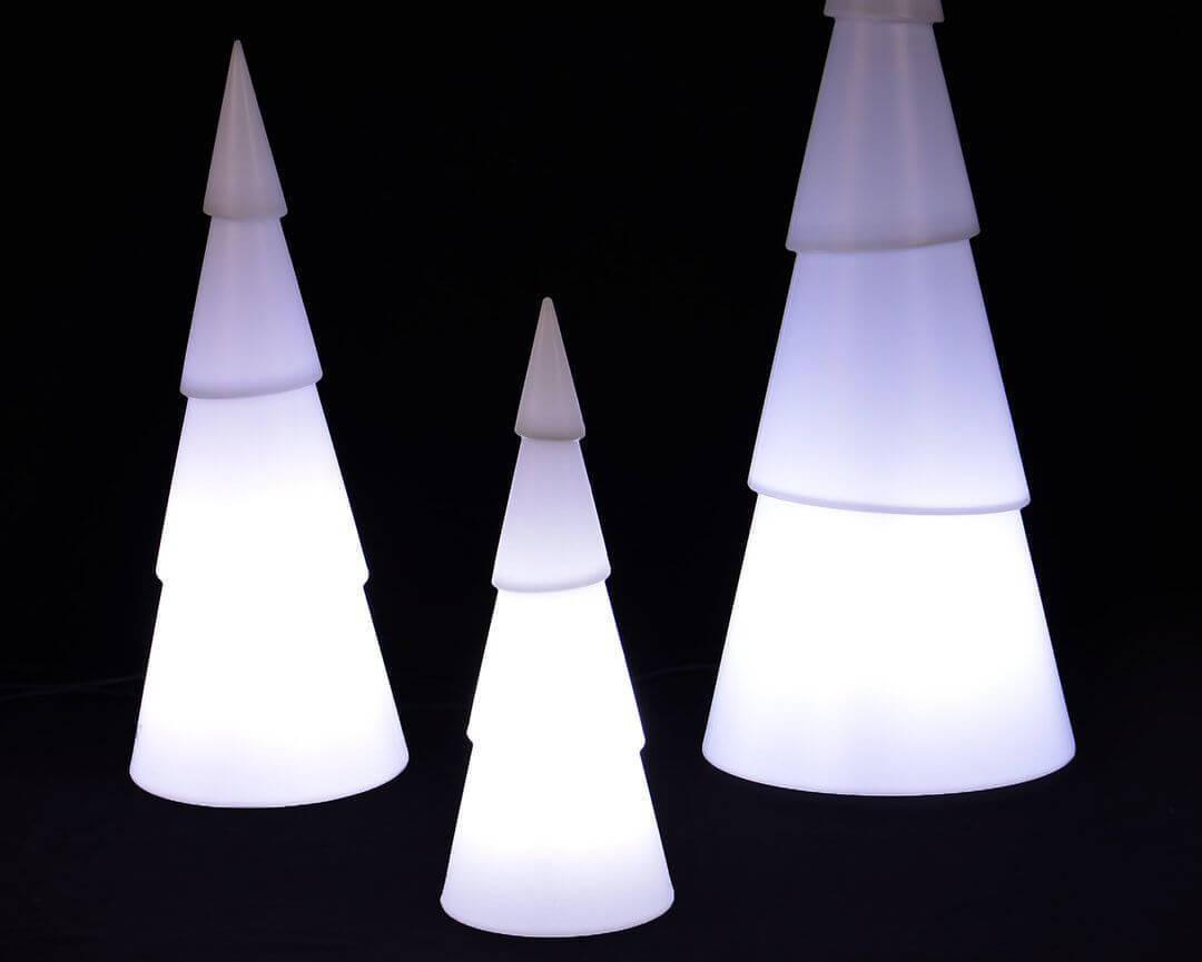 Leuchtbaum arbono h75cm aus kunststoff in perlwei bei - Beleuchteter tannenbaum kunststoff ...