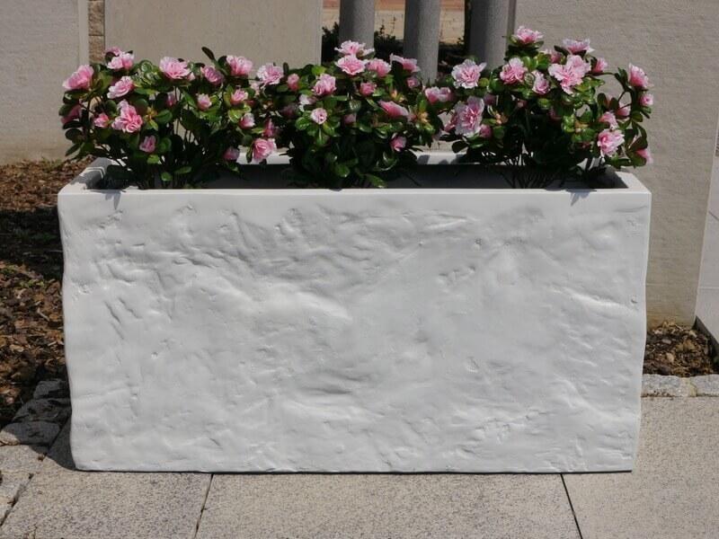pflanzk bel bloxx aus fiberglas wie orig marmor bei east west trading. Black Bedroom Furniture Sets. Home Design Ideas