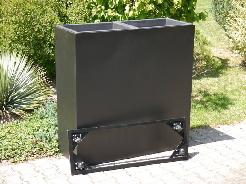 Raumteiler f r rollen l100x b40x h100cm aus fiberglas in for Fiberglas eigenschaften