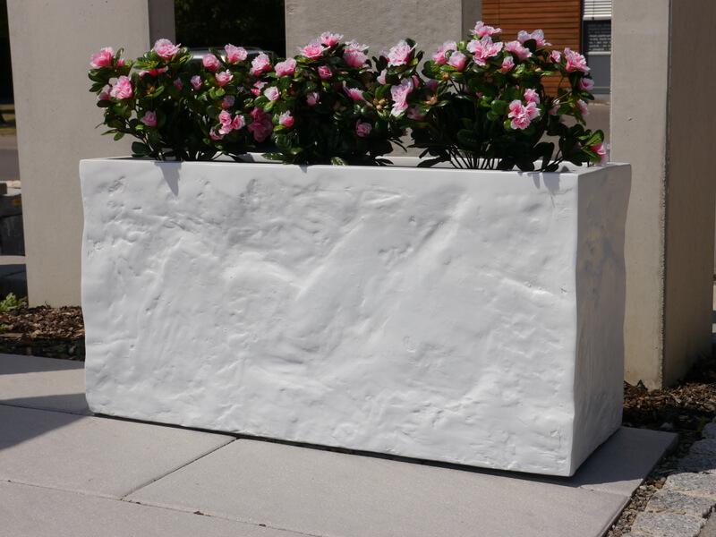 pflanzk bel bloxx aus fiberglas wie orig marmor bei. Black Bedroom Furniture Sets. Home Design Ideas