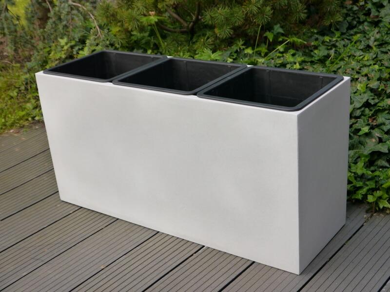 pflanztrog der bundesgartenschau aus fiberglas in perlwei 82x28x40 cm bei east west trading. Black Bedroom Furniture Sets. Home Design Ideas