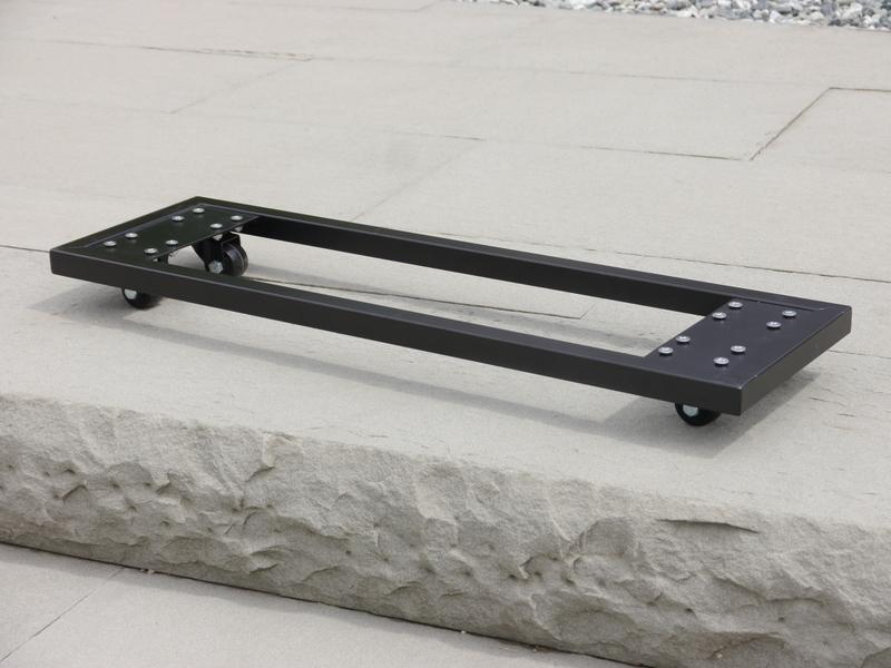 raumteiler l100x b40x h100cm aus fiberglas in schwarz. Black Bedroom Furniture Sets. Home Design Ideas