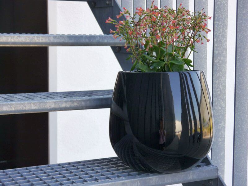 Gartenmobel Tisch Blau : YORO  Pflanzkübel Blumenkübel Fiberglas, 21x21x19cm