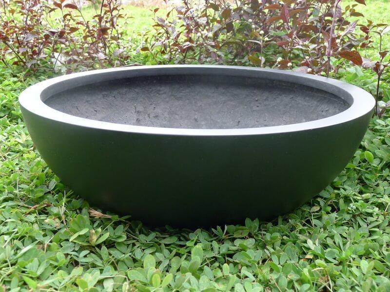 Pflanzschale hydro aus fiberglas in schwarz anthrazit bei east west trading - Moderne pflanzschalen ...